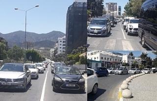 Girne'nin trafik çilesi bitmiyor