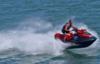 Bafra plajında jet ski kazası