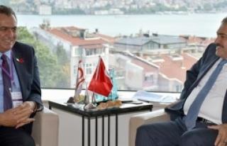 Çavuşoğlu İstanbul'da Eroğlu ile görüştü