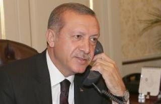 Erdoğan'a tebrik mesajı