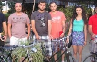 Güzelyurt'ta bisiklet turu