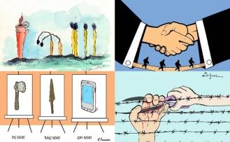 Kıbrıslı Türk karikatür sanatçıları, uluslararası yarışmalarda çeşitli ödüller kazandı
