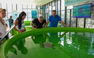 Meritta Deniz Kaplumbağaları Rehabilitasyon Merkezi'ne ünlü isimler ziyarette bulundu