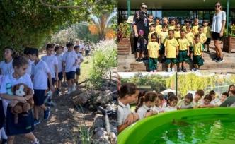 Alsancak ilkokulunun minikleri 'Hayvanları koruma' gününde Merit Kaplumbağalarını ziyaret etti