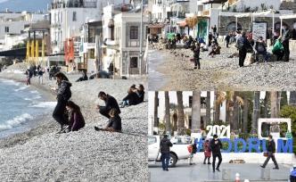 Marmaris ve Bodrum'da, sahillerde hareketlilik yaşanmaya başladı