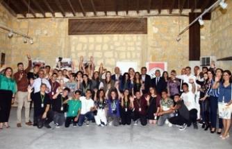 Atatürk Meslek Lisesi öğrencilerinin sergisi açıldı