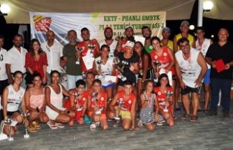 Plaj tenis şampiyonları belirlendi