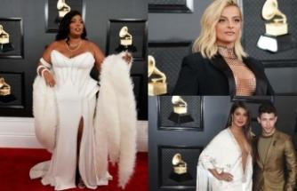 Grammy Ödülleri sahiplerini buldu; kırmızı halıda ünlü isimlerin dekolteleri geceye damga vurdu