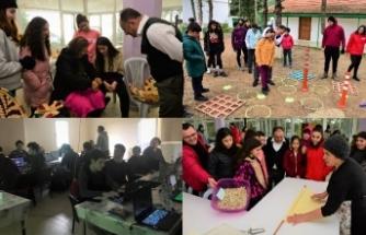 Kantara'daki kış kampında gençlere yönelik etkinlikler düzenleniyor