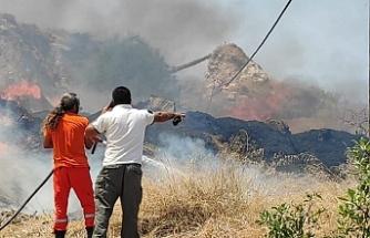 Esentepe'de boş arazide yangın çıktı