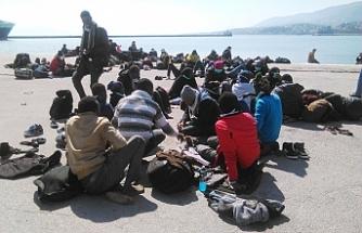 'Göçmenlere şiddet kullanıldı'