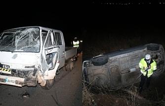 Boğazköy'de korkutan kaza