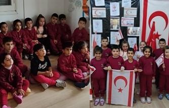 Dünyanın Renkleri Kreş ve Okul Öncesi Eğitim Merkezi'nin minikleri Denktaş'ı andı