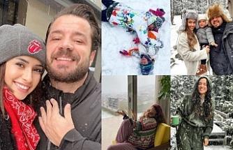 Ünlülerin kar sevinci