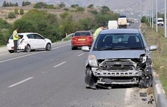 58 trafik kazası, 18 kişi yaralı