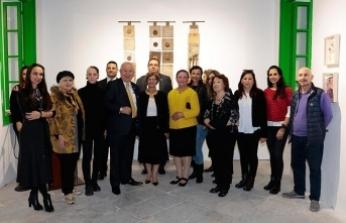 Meral Akıncı, 'Kağıda Dokunuş' Sergisinin açılışına katıldı