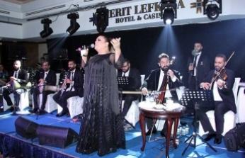 Kibariye 2 gece üst üste Lefkoşa Merit Otel'de sahne aldı