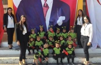 Arıkovanı'nın minikleri 23 Nisan'ı coşkuyla kutladı