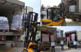 Lemar, belediyelerle işbirliği halinde ihtiyaçlı ailelere 150 bin liralık ürün yardımı yaptı
