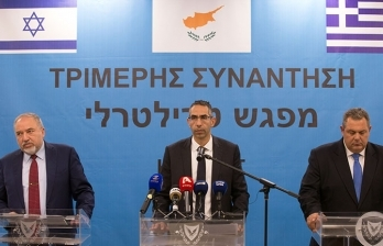 Rum, Yunanistan ve İsrail Savunma Bakanları güneyde buluştu