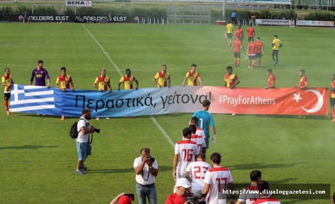 Göztepe'den Yunanistan'a destek