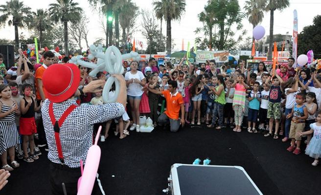 Güzelyurt Portakal Festivali kapsamında Çocuk Şenliği düzenlendi