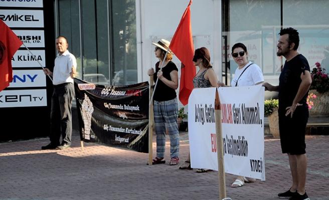 Pankartlı protesto