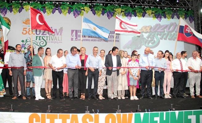 Mehmetçik'te bu yıl 58'incisi düzenlenen ve bölgeye hareketlilik getiren Üzüm Festivali başladı