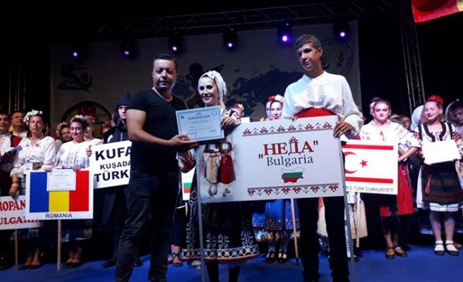Gazimağusa Belediyesi Halk Dansları Topluluğu, Kuşadası'ndaki festivale katıldı