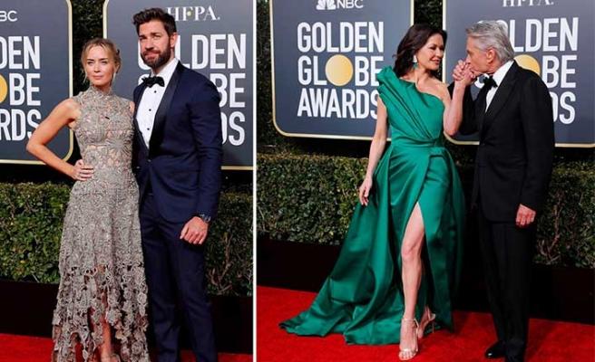 Altın Küre'de pek çok ünlü isim, eşleri, nişanlıları ya da sevgilileriyle boy gösterdi