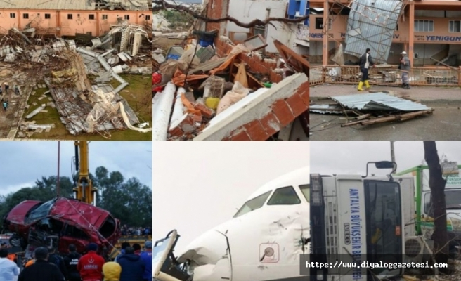 Antalya'da yaşanan hortum felaketinde iki kişi öldü, 229 binada hasar meydana geldi