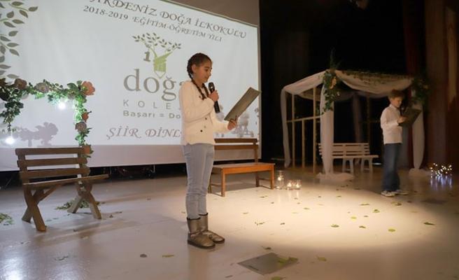 Doğu Akdeniz Doğa İlkokulunda şiir şöleni gerçekleştirildi