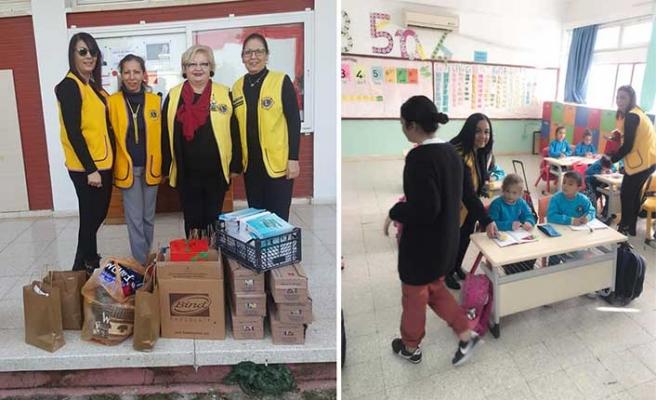 Lions kulüpleri tarafından Çayırova İlkokulu öğrencilerine bağış yapıldı