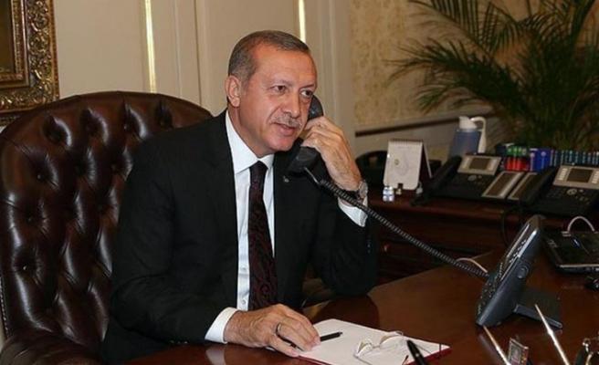 Erdoğan taziyelerini iletti