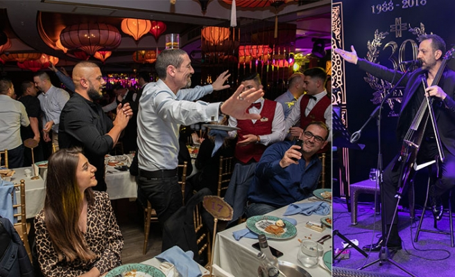 Maxim Royal'de sahne alan Rubato Grubu üyeleri, tam anlamıyla bir müzik ziyafeti sundu