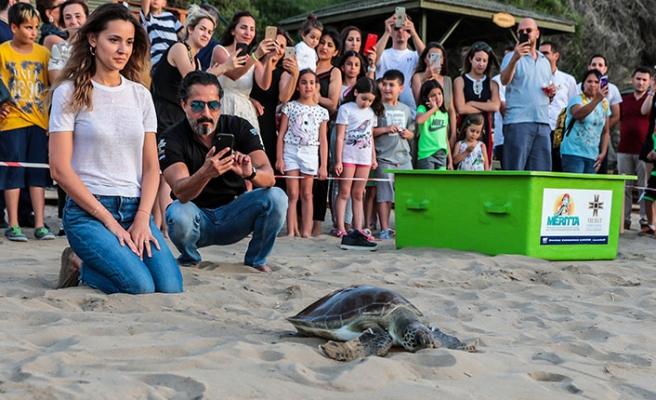 'Meritta Carettaları Koruma ve Rehabilite Etme Merkezi' 10'uncu kaplumbağayı denize indirdi