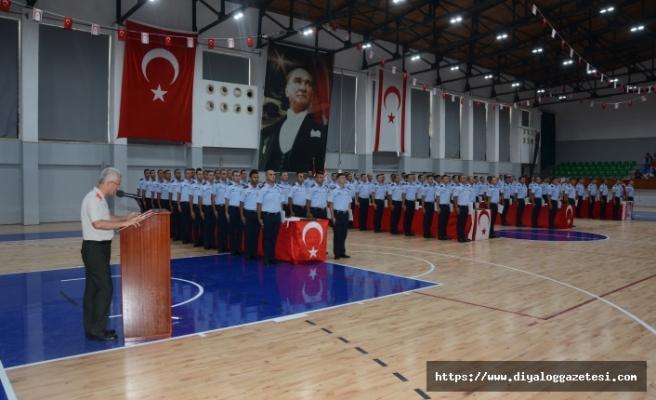 74 polis ve 26 itfaiye memuru, yemin ederek polis örgütü kadrosuna katıldı