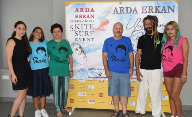 Arda Erkan için her yıl düzenlenen Kite Surf Etkinliği'nin 5'incisi gerçekleştiriliyor