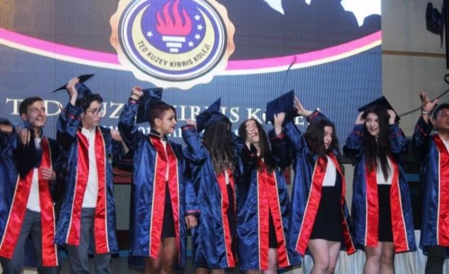 KKTC de eğitim-öğretim hayatına 9 yıl önce başlayan TED Kuzey Kıbrıs Koleji, liseden üçüncü mezunlarını verdi
