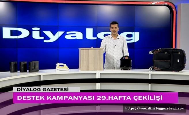 Diyalog Gazetesinin düzenlediği zengin hediye içerikli Destek Kampanyasının 29'uncu hafta çekilişi yapıldı