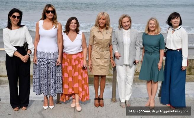 Fransa'da başkan eşlerinin stilleri, zirvenin önüne geçti