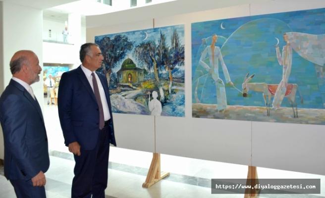 Özbekistanlı ve Kazakistanlı sanatçıların sergisi açıldı