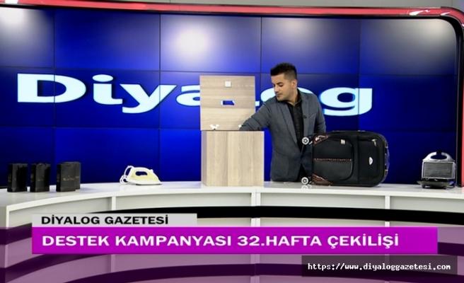 Diyalog Gazetesinin düzenlediği zengin hediye içerikli Destek Kampanyasının 32'nci hafta çekilişi yapıldı