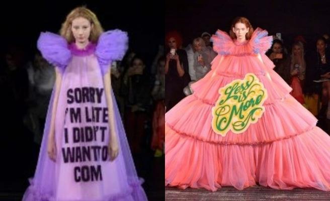 Viktor&Rolf'un mesaj içerikli, kabarık tül elbiseleri, ev fiyatına satışa çıktı