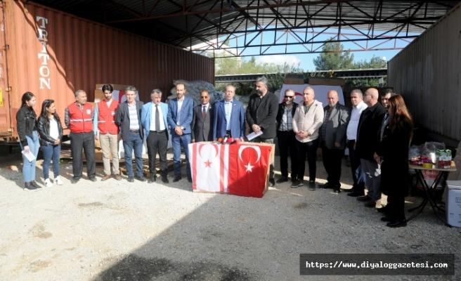 KKTC Türk Kızılay Derneği öncülüğündeki yardım kampanyaları sürüyor