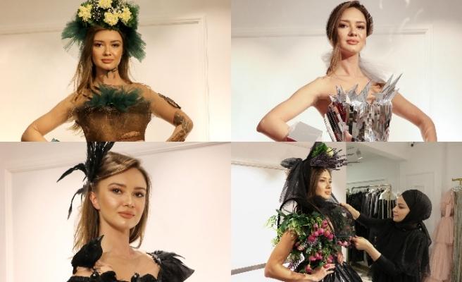 Moda tasarımcısı Gülcan Selçuk, 30 elbiseyi İklim Değişikliği Koleksiyonunda topladı