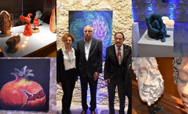 Sevim Erdal'ın kişisel sergisi Girne'de açıldı