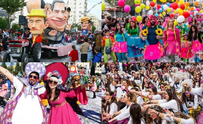 30 bin kişinin katıldığı Limasol karnavalı sona erdi