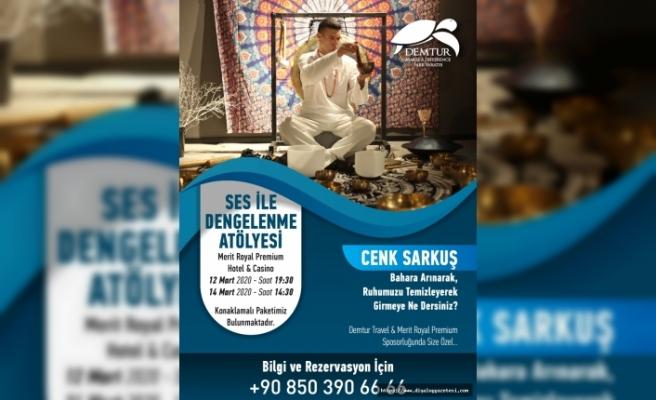 Cenk Sarkuş, Merit sponsorluğunda Kuzey  Kıbrıs'a geliyor
