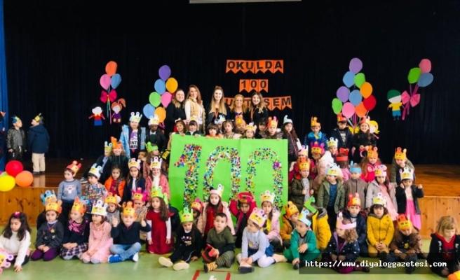 Doğu Akdeniz Doğa Anaokulunda 100'üncü gün partisi düzenlendi